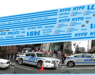 Набор декалей Полиция США NYPD
