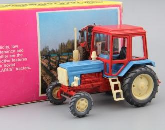 Трактор МТЗ-82, красный / голубой