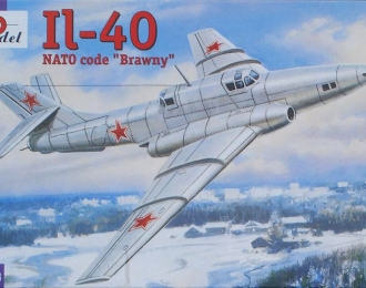 Сборная модель Советский опытный штурмовик Ил-40-1