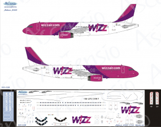 Декаль на самолёт A320 (Wizz Air (OLD livery))