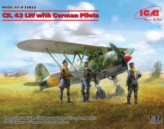 Сборная модель CR. 42 LW с германскими пилотами