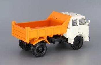 МАЗ 503Б самосвал, белый / оранжевый