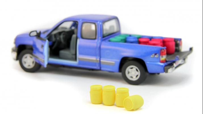Набор пластиковых евробочек (48 литров) 4 шт, желтый