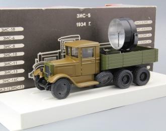 ПО-15-8 ЗИС-6 Прожектор (Прожекторная автомобильная станция), болотный / зеленый