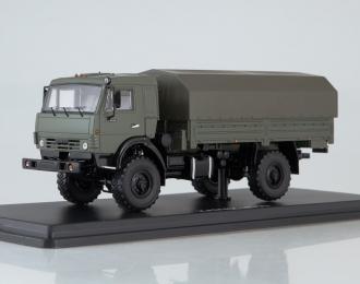 КАМАЗ-4350 4х4 Мустанг с тентом, зеленый