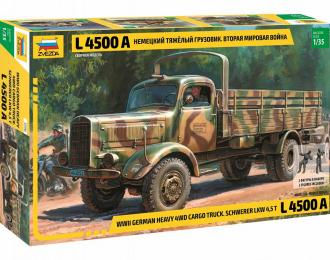 Сборная модель Немецкий тяжелый грузовик времен Второй Мировой Войны «L 4500A»