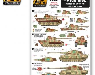 The ARDENNES campaign 1944-45 German tanks (декаль для немецкихтанков 1944-45, Арденская операция)