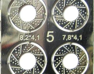 Фототравление Тормозные диски (вариант 5), никелирование