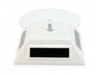 Подиум вращающийся на солнечных батареях (пирамида), белый