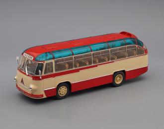 ЛАЗ 695Б городской (1956), бежевый / красный