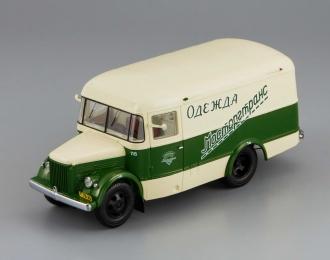 Павловский автобус 661 Мосторгтранс (1956), бежевый с зеленым
