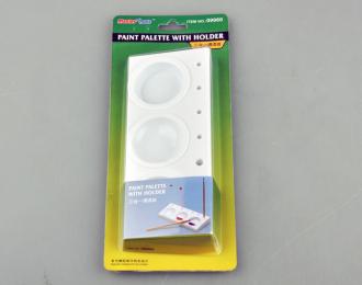 Палитра для краски с держателем (3 секции)
