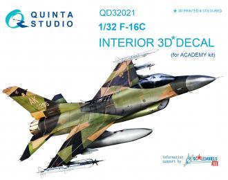 3D Декаль интерьера кабины F-16C (для модели Academy)