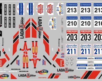 Набор декалей ВАЗ LADA спорт (вариант2) (100х70)