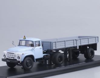 ЗИЛ 130В1 с полуприцепом ОДАЗ 885, голубой / серый