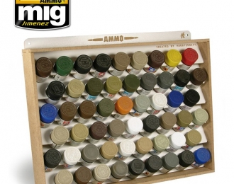 TAMIYA/MR COLOR AMMO STORAGE SYSTEM (стеллаж для хранения красок TAMIYA / MR.COLOR)