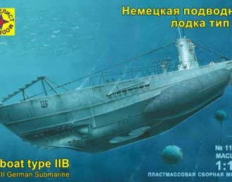 """Сборная модель немецкая подводная лодка """"Тип IIB"""""""
