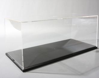 Прозрачный бокс F 350х160х140мм с черной подставкой