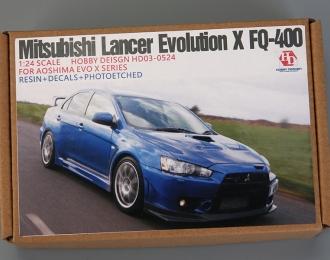 Конверсионный набор Mitsubishi Lancer Evolution X FQ-400 для моделей Aoshima EVO X Series(Resin+PE+Decals+Metal Logo)