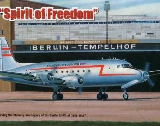"""Сборная модель Американский пассажирский самолет Douglas C-54 Skymaster """"Spirit of Freedom"""""""