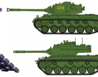 Сборная модель T-84E1 Workable Track Link Set(Rubber Type) For M46/M47