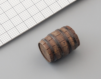 Деревянная бочка (малая, окрашенная), цена за шт.