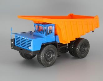 БелАЗ-7525 самосвал-углевоз, синий / оранжевый
