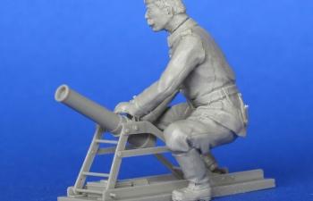 Миномет системы Lanz 9.15 см, Первая Мировая война (смола)