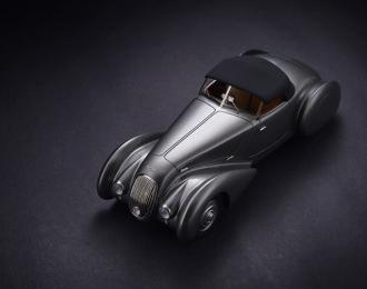 BENTLEY 4,25 Litre Roadster Chalmers & Gathings #B25GP close (1936), metallic grey