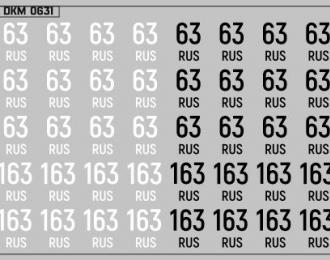 Набор декалей Дублирующие знаки России Самарская область (100х70)