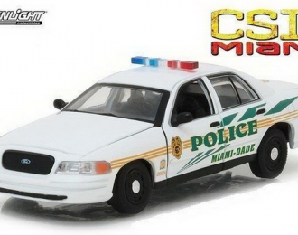 "FORD Crown Victoria Police Interceptor ""Miami-Dade Police"" (из телесериала ""Место преступления"" (2003), white"