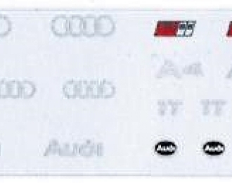Набор декалей Логотипы и шильдики AUDI, 141x16