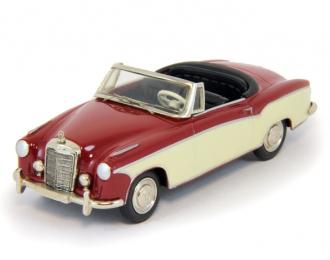 MERCEDES-BENZ 220 S Cabrio (1958), red / biege