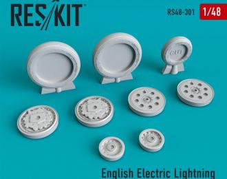 English Electric Lightning ранний тип смоляные колеса