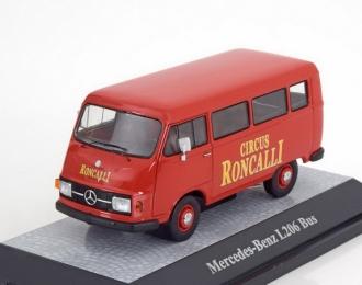 MERCEDES-BENZ L206 Bus Circus Roncalli, red