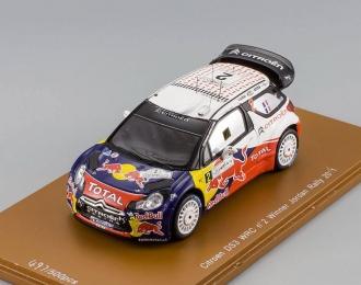 CITROEN DS3 WRC №2 Winner Jordan Rally (Sebastien Ogier - Julie Ingrassia) Limited 500pcs 2011, black