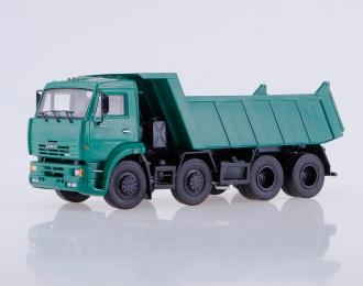 Камский грузовик 6540 самосвал, зеленый
