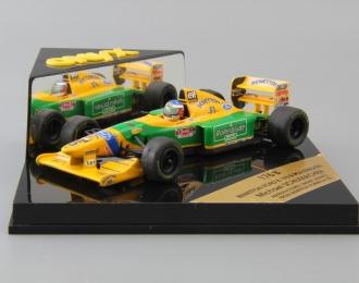 BENETTON FORD B 193 B Rollerblade Michael Schumacher #5, yellow / green