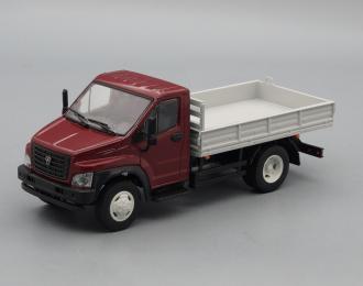 ГАЗон C41R13 бортовой, бордовый / серый