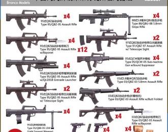 Сборная модель Chinese PLA Soldier Small Arms Set