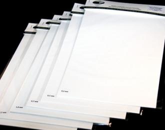 Полистирол листовой белый 2,0 мм 1 лист 20х30 см