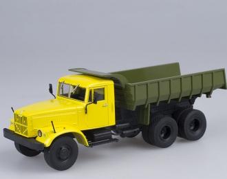 КРАЗ-256Б1 Самосвал, Грузовики СССР 1, желтый - зеленый