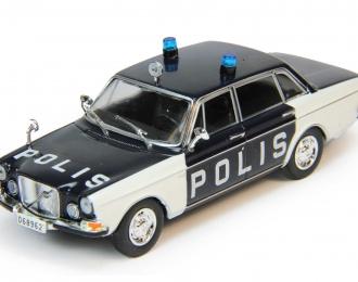 VOLVO 164 Полиция Швеции, Полицейские Машины Мира 77, черно-белый