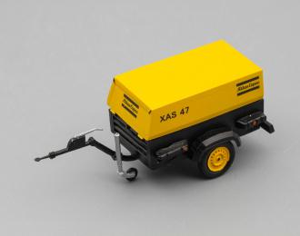 Компрессор Atlas Copco XAS 47 (открытый на прицепе), желтый / черный