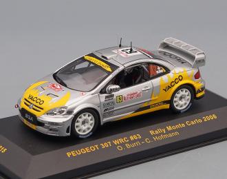 PEUGEOT 307 WRC 63 O.Burri-C.Hofmann Rally Monte Carlo 2006, silver