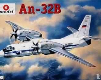 Сборная модель Советский многоцелевой самолет Ан-32Б