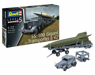 Сборная модель Военная техника SS-100 Gigant with Transporter & V2