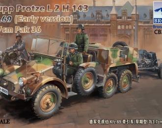 Сборная модель Krupp Protze L2 H 143 Kfz.69 with 3,7 cm Pak 36 (Early version)