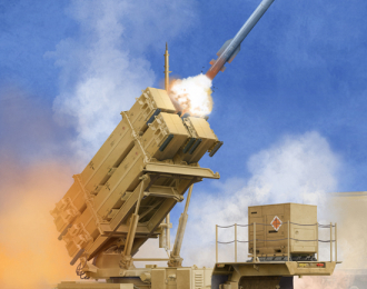 Сборная модель Ракетная установка  M901 Launcjhing Station w/MIM-104F Patriot Sam System (PAC-3)