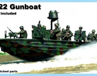 """Сборная модель Американский катер SOC-R с 6 фигурами """"морских котиков"""" из SBT-22"""